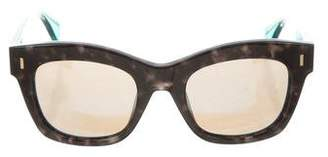 Fendi Mirrored Wayfarer Sunglasses