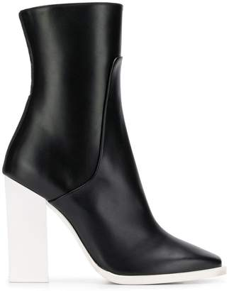 Lanvin contrast heel ankle boots