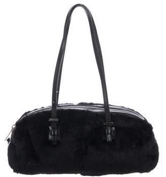 Fendi Vintage Leather & Fur Shoulder Bag