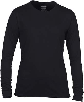 Gildan Womens/Ladies Performance Freshcare Long Sleeve T-Shirt