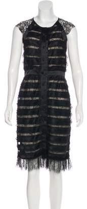 CH Carolina Herrera Silk Lace Dress