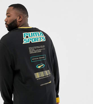 Puma PLUS organic cotton long sleeve top in black Exclusive at ASOS