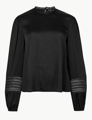 Marks and Spencer Round Neck Long Sleeve Blouse