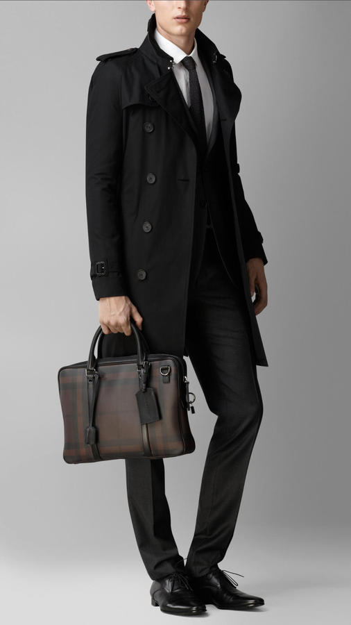 Burberry Smoked Check Briefcase