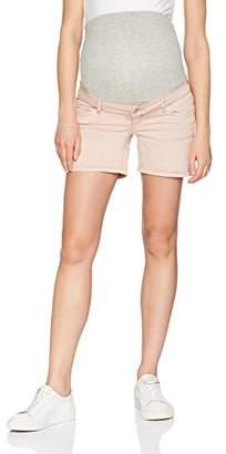 Mama Licious Mamalicious Women's Mlcolor Stone Wash Denim B. Maternity Shorts,(Manufacturer Size: 26)