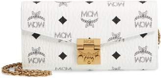 MCM Patricia Visetos Canvas Wallet on a Chain