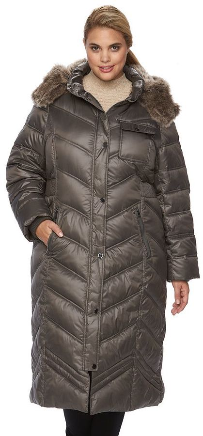 Apt. 9Plus Size Apt. 9 ̈ Quilted Hooded Puffer Jacket