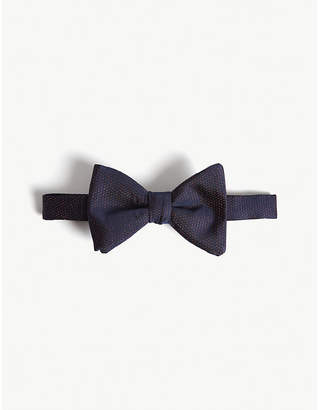 HUGO Metallic dot print silk bow tie