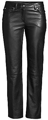 Michael Kors Women's Straight Leg Leather Pants