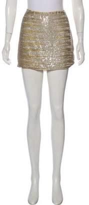 Haute Hippie Silk Mini Skirt