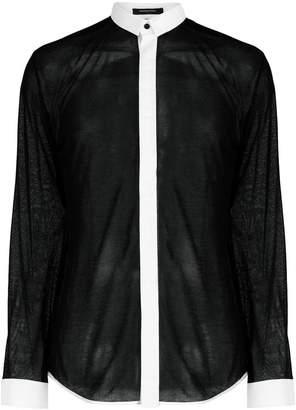Unconditional micro collar shirt