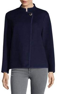 Lafayette 148 New York Two Tone Double Face Branson Wool and Cashmere Jacket