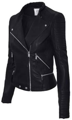 Moto Timestory Ever77 Women's Classic Faux Leather Jacket/TJ1031CI-,L