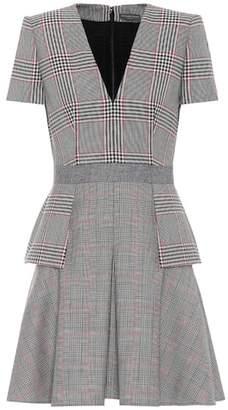 Alexander McQueen Plaid wool dress