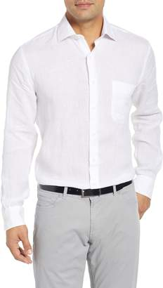 Peter Millar Crown Regular Fit Linen Sport Shirt