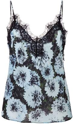 Fleur Du Mal lace trim floral print camisole