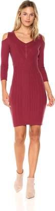 Jessica Simpson Women's Gail Cold Shoulder Sweater Dress