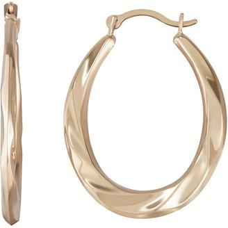 Taylor Grace 10k Gold Twist Hoop Earrings