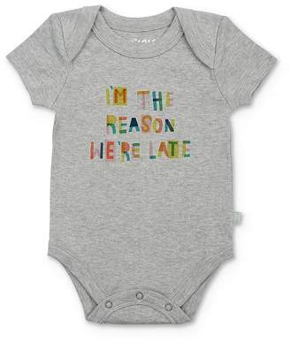 Finn & Emma Unisex I'm The Reason We're Late Bodysuit - Baby