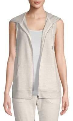 Nanette Lepore Front-Zip Sleeveless Hoodie