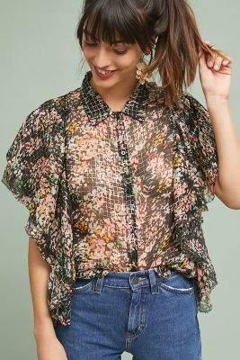 Love Sam Floral Chiffon Shirt