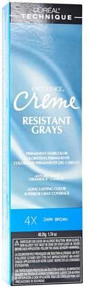 L'Oreal Resistant Grays 4X Dark Brown Permanent Creme Hair Color