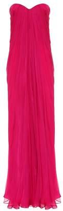 Alexander McQueen Strapless silk organza gown