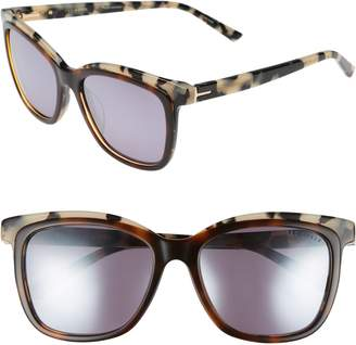 Ted Baker 54mm Polarized Cat Eye Sunglasses
