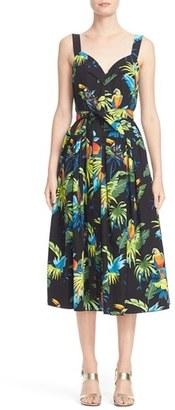 Women's Marc Jacobs Parrot Print Cotton Poplin Dress $450 thestylecure.com