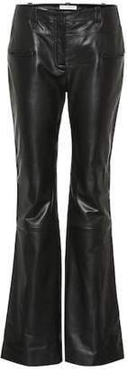 Altuzarra Leather flare pants