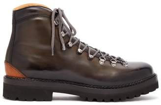Ralph Lauren Purple Label Fidel Leather Mountain Boots - Mens - Grey