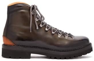 Ralph Lauren Purple Label - Fidel Leather Mountain Boots - Mens - Grey