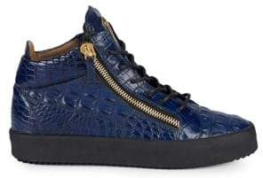 Giuseppe Zanotti Schafla Croco-Embossed High-Top Sneakers