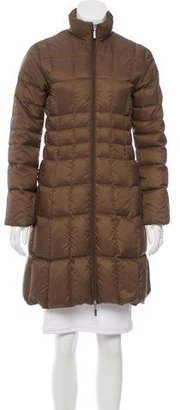Moncler Knee-Length Puffer Coat $625 thestylecure.com