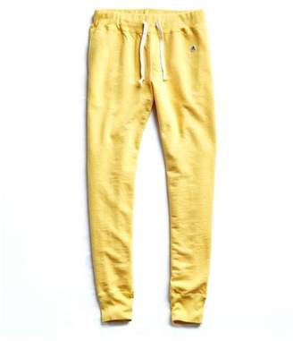 Todd Snyder Slim Jogger Sweatpant in Yellow