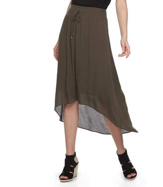 Apt. 9 Women's Smocked High-Low Midi Skirt