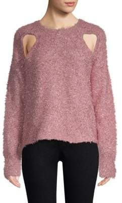 Alice McCall Metallic Cutout Sweater