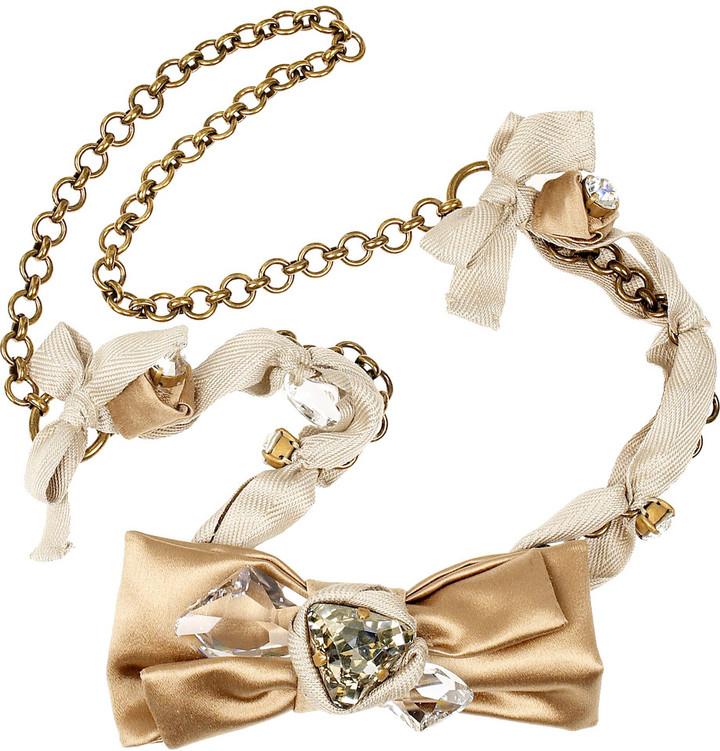 Miu Miu Satin bow necklace
