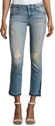 True Religion Cora Straight Crop Denim Jeans, Blue Dream Destroyed $219 thestylecure.com
