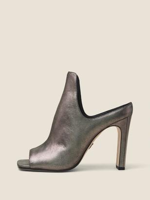 DKNY Sutton Metallic Suede Mule