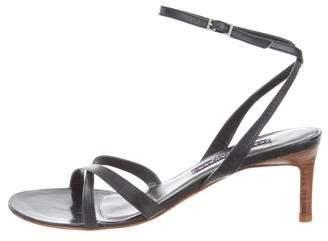 Ralph Lauren Leather Ankle Strap Sandals