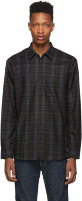 DSQUARED2 Green and Brown Relax Dan Shirt