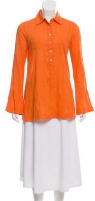 Tory Burch Long Sleeve Button-Up Top