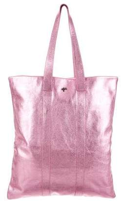 Burberry Large Metallic Leather Tote