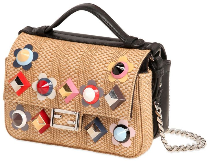 Micro Double Baguette Leather Bag