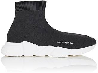 Balenciaga Men's Knit High-Top Sneakers $595 thestylecure.com