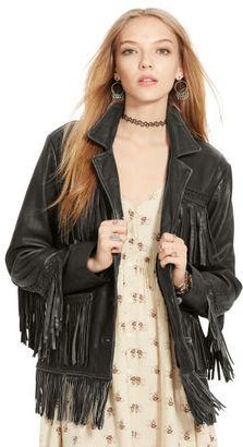 Ralph Lauren Denim & Supply Fringed Leather Jacket $698 thestylecure.com