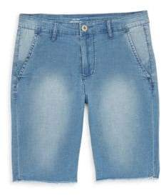 AG Adriano Goldschmied kids Boy's Cory Washed Chambray Chino Shorts