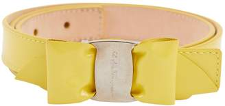 Salvatore Ferragamo Yellow Patent leather Belts