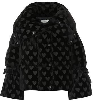 Fendi Velvet down jacket